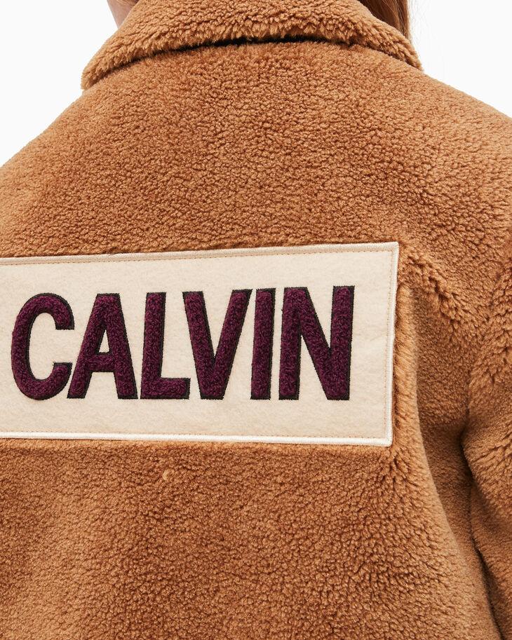 CALVIN KLEIN GIRLS' TEDDY LOGO JACKET
