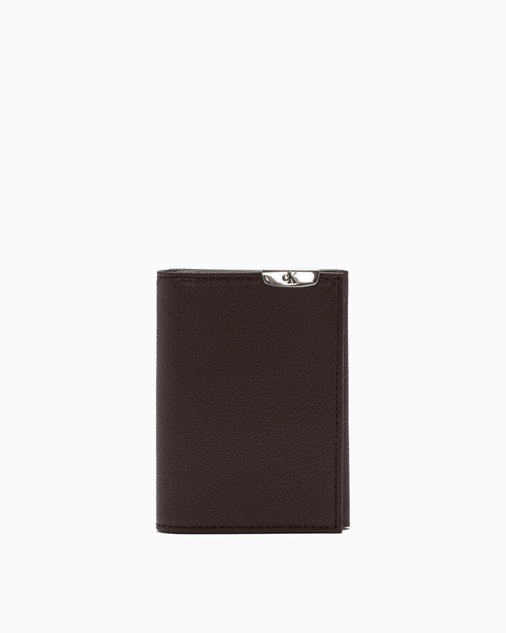 CALVIN KLEIN MICRO PEBBLE FOLD CARD CASE