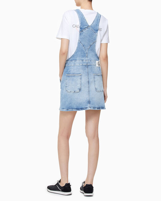 CALVIN KLEIN 여성 멜빵 드레스