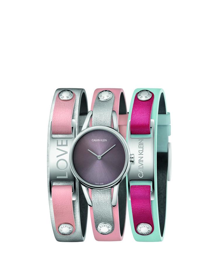 CALVIN KLEIN #MYCALVINS 皮革錶帶禮盒