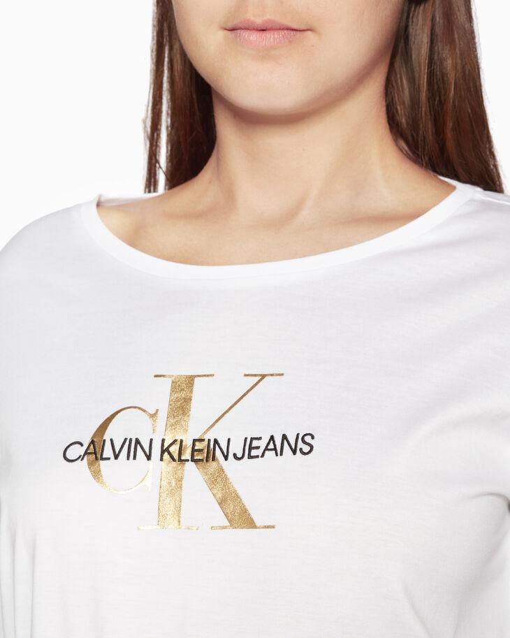 CALVIN KLEIN GOLD MONOGRAM LOGO LONG SLEEVE TEE