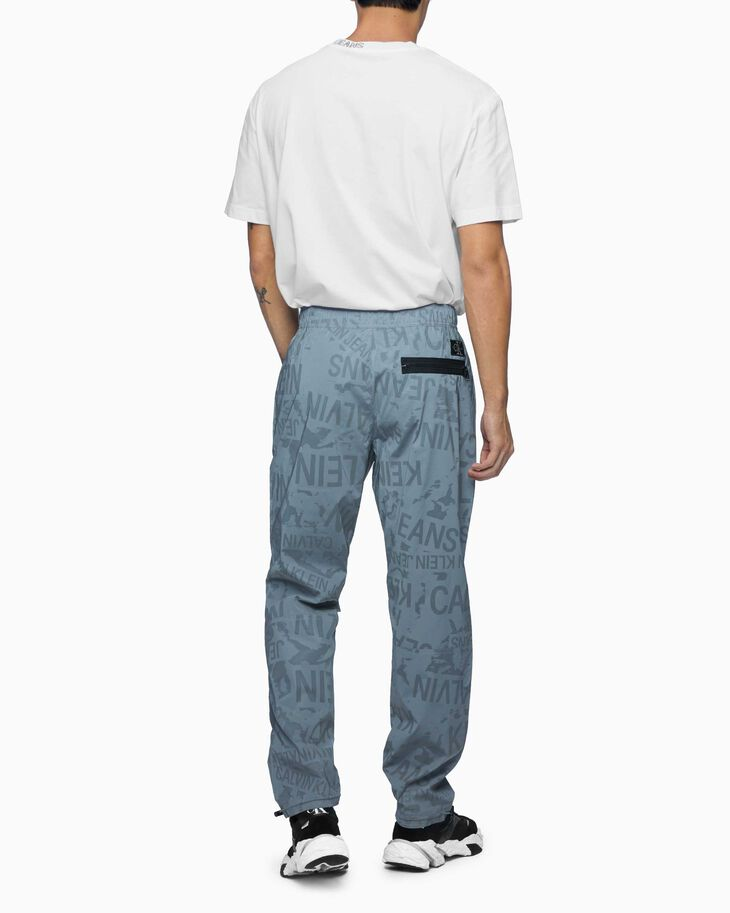 CALVIN KLEIN REFLECTIVE LOGO TRACK PANTS