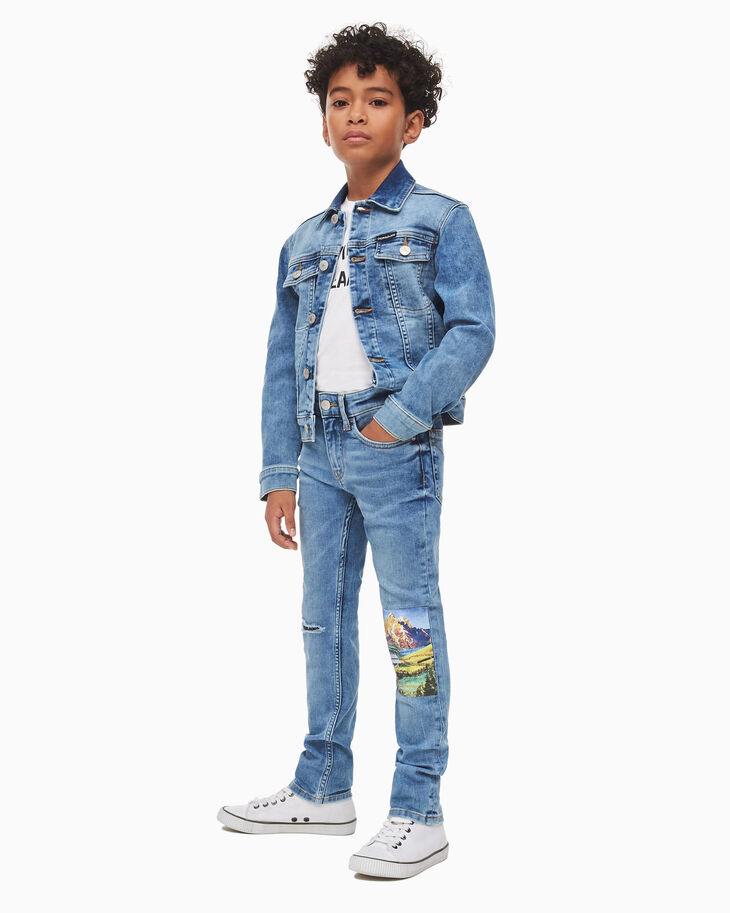 CALVIN KLEIN PHOTO PRINT DENIM TRUCKER JACKET