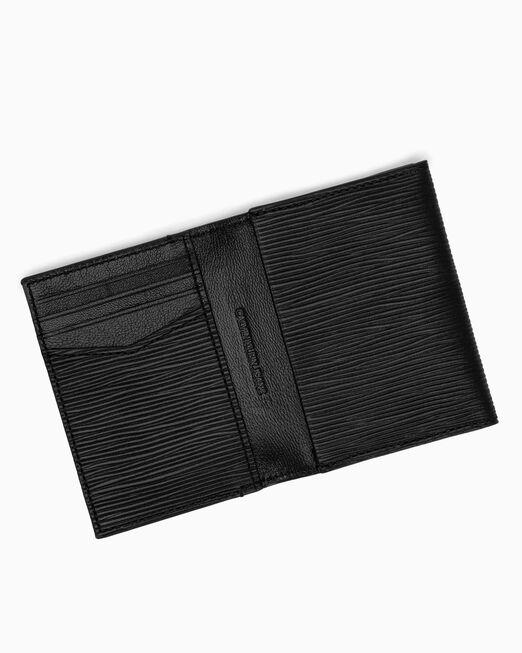 CALVIN KLEIN 남성 텍스쳐드 모노그램 폴드 카드 지갑