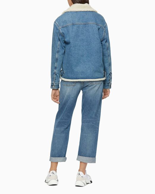 CALVIN KLEIN SUSTAINABLE SHERPA DENIM JACKET