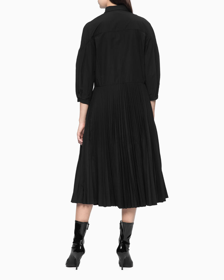 CALVIN KLEIN PLEATED SHIRT DRESS