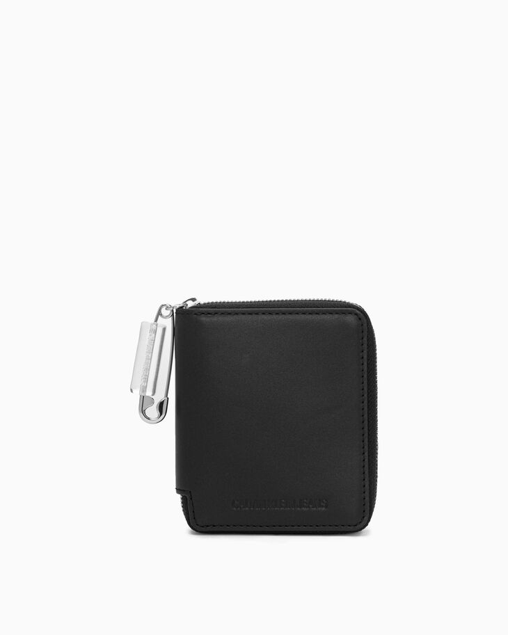 CALVIN KLEIN SAFETY PIN ZIP AROUND WALLET