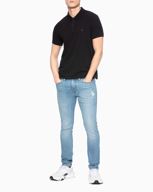 CALVIN KLEIN 남성 슬림핏 져지 반팔 티셔츠