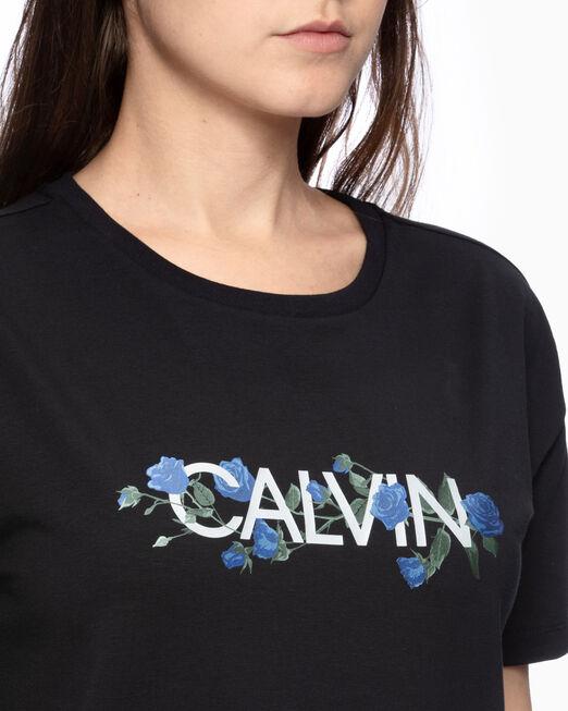 CALVIN KLEIN GLOSSY ROSE LOGO 티셔츠