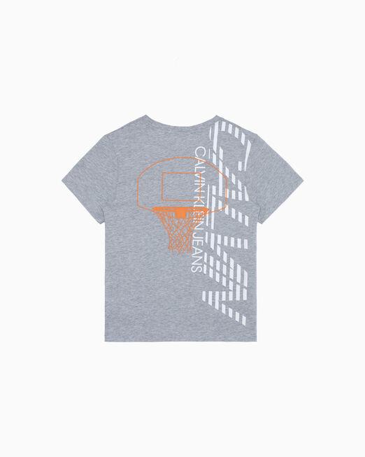 CALVIN KLEIN 남아용 BASKETBALL PRINT 티셔츠