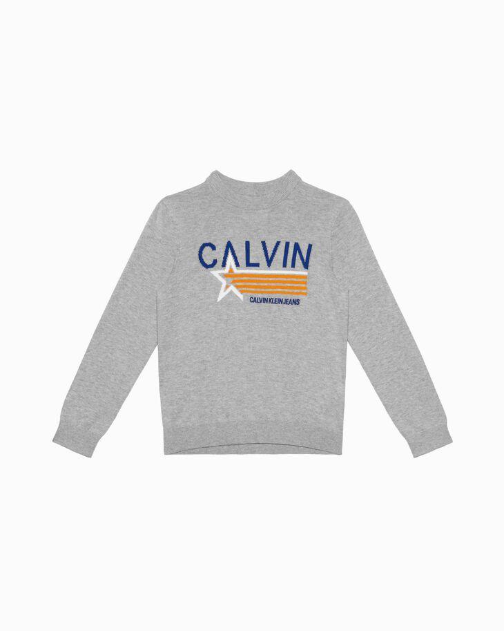 CALVIN KLEIN 男孩款 KNIT PRINT 套頭上衣