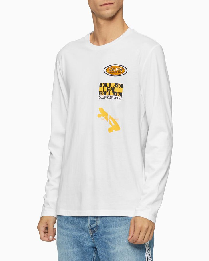 CALVIN KLEIN MULTI LOGO LONG SLEEVE TEE