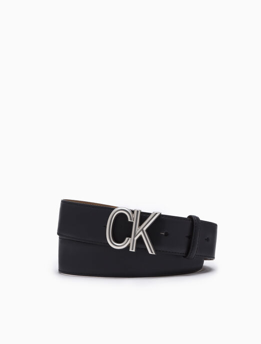 CALVIN KLEIN REVERSIBLE CK LOGO BELT 35MM