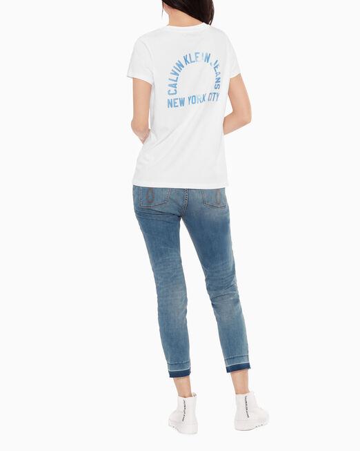 CALVIN KLEIN CIRCULAR LOGO 티셔츠