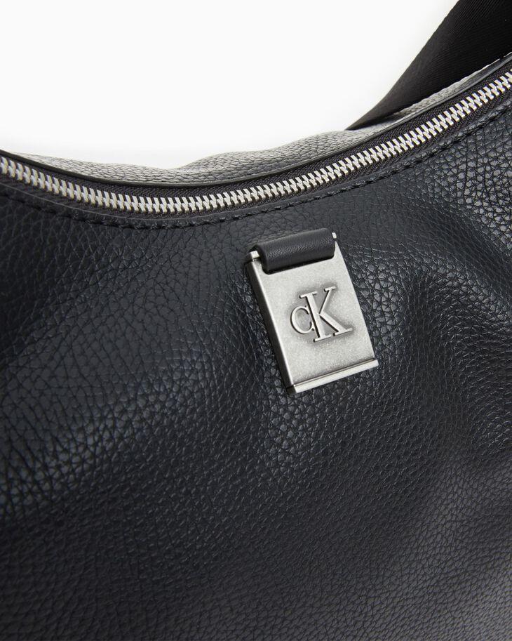 CALVIN KLEIN MONOGRAM HARDWARE SOFT HOBO BAG