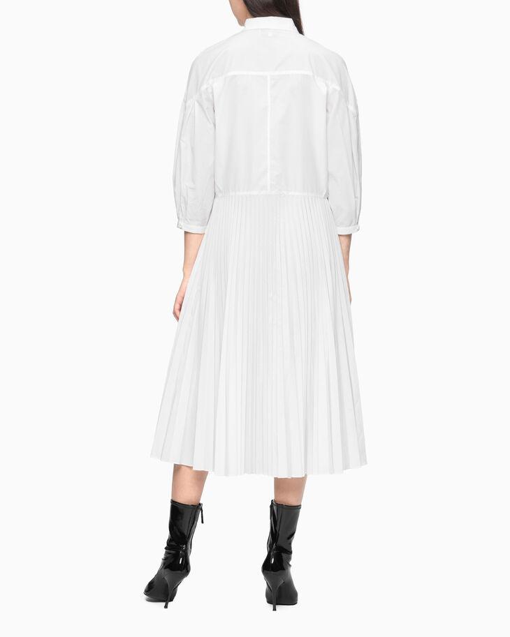 CALVIN KLEIN PLEATED SHIRT DRESS