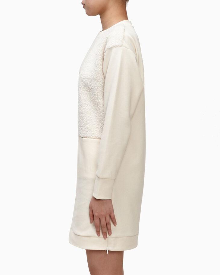 CALVIN KLEIN TEDDY PANEL DRESS