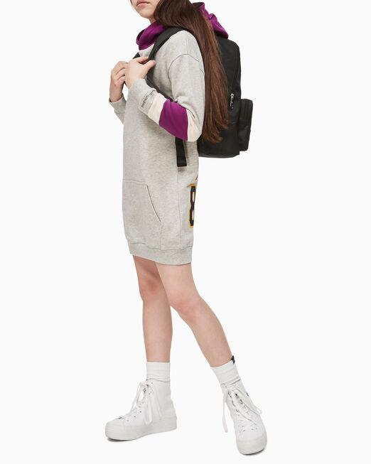 CALVIN KLEIN 여아용 바시티 후드 드레스