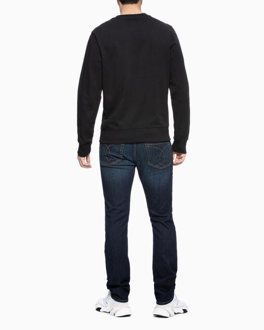 CALVIN KLEIN 남성 모노그램 체스트 테이프 로고 스웨트셔츠