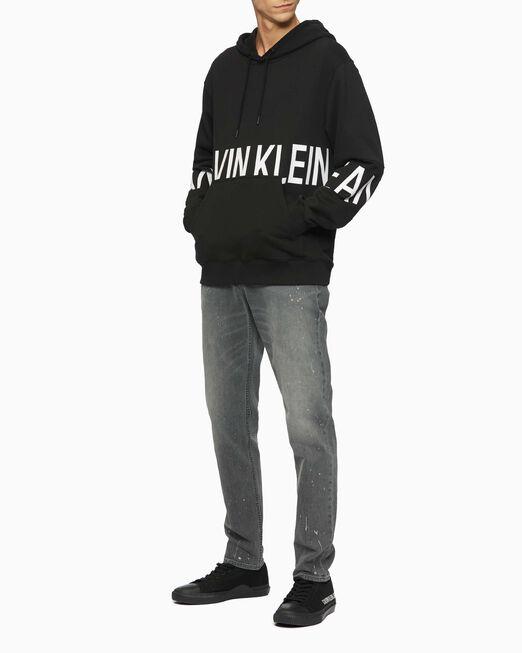 CALVIN KLEIN 남성 블록킹 로고 후디