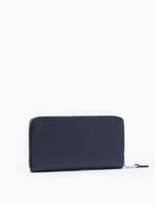 CALVIN KLEIN MICRO PEBBLE ZIP-AROUND WALLET