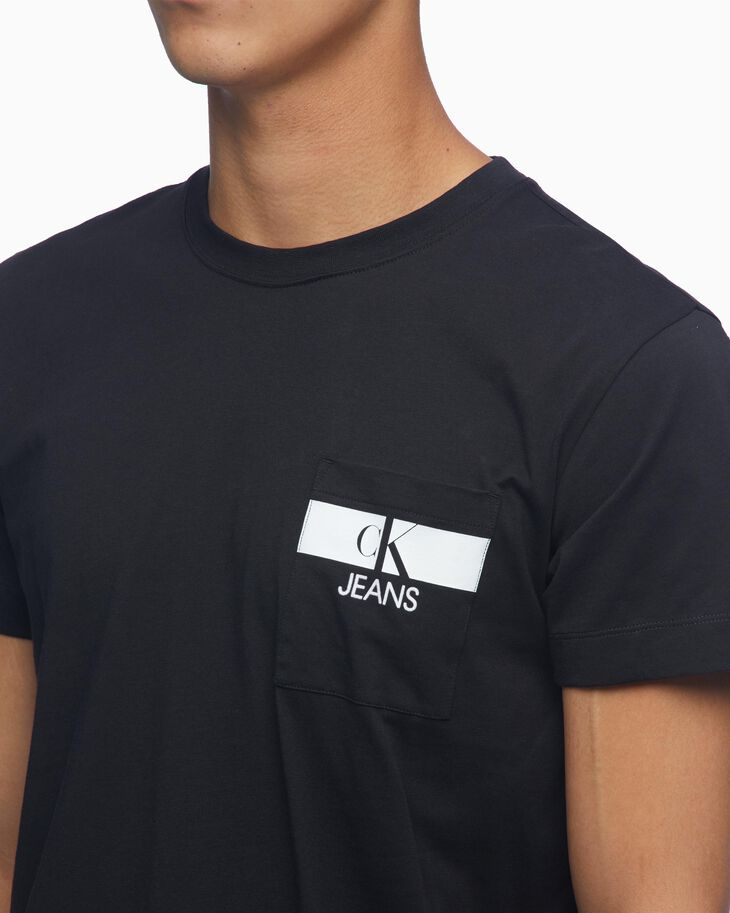 CALVIN KLEIN ORGANIC COTTON LOGO POCKET TEE