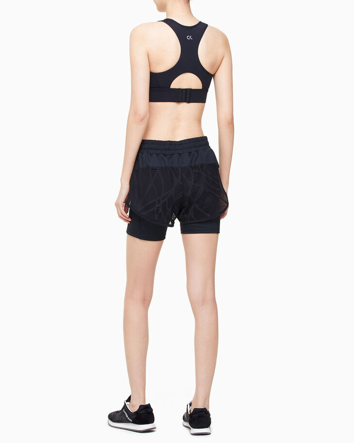 CALVIN KLEIN REFLECTION LACE SHORTS WITH TIGHTS