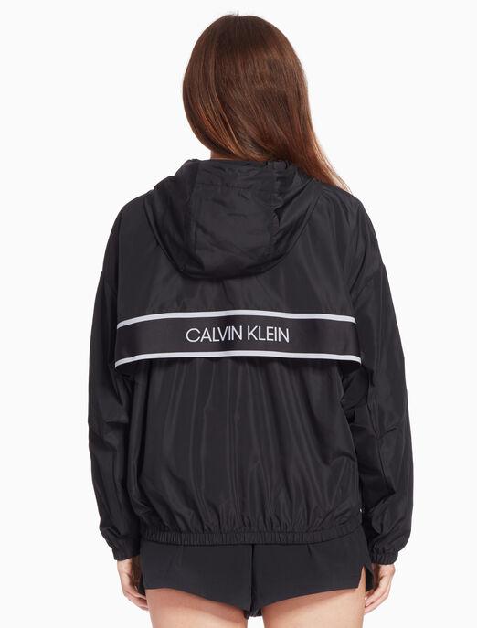 CALVIN KLEIN 여성 액티브 아이콘 엘라스틱 드롭 숄더 윈드 자켓