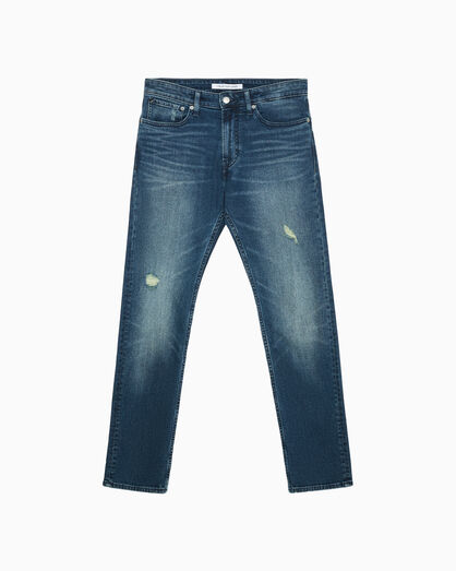 CALVIN KLEIN CKJ 025 DISTRESSED SLIM STRAIGHT JEANS