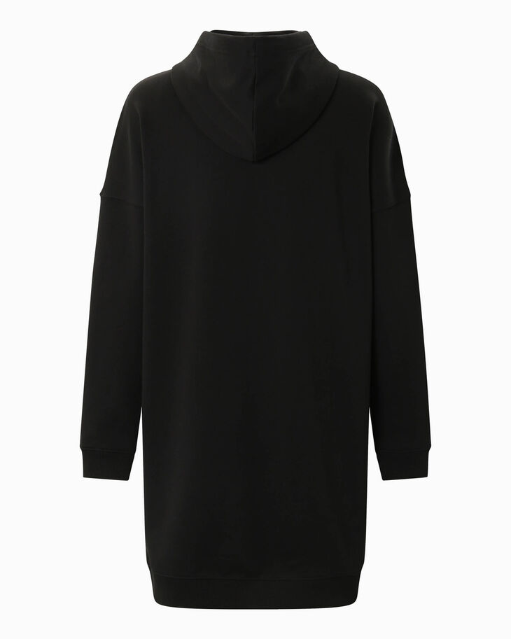 CALVIN KLEIN CENSORED MONOGRAM HOODED SWEAT DRESS
