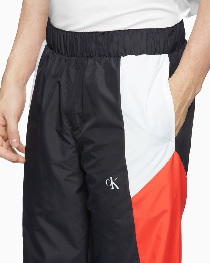 CALVIN KLEIN COLOR BLOCK TRACK PANTS