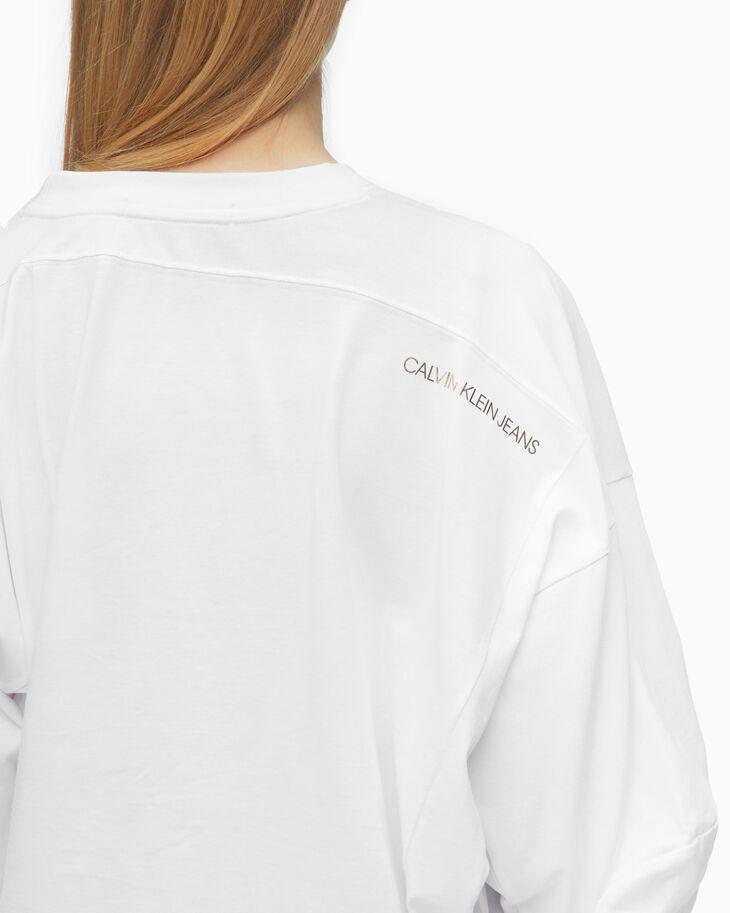 CALVIN KLEIN 農曆新年限定設計款不對稱花押字上衣