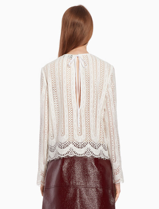 CALVIN KLEIN Lace top