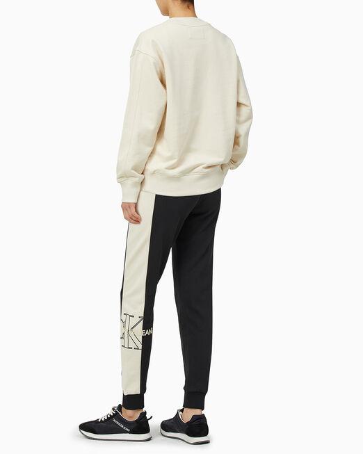 CALVIN KLEIN 여성 모노그램 로고 컬러 블로킹 조거팬츠