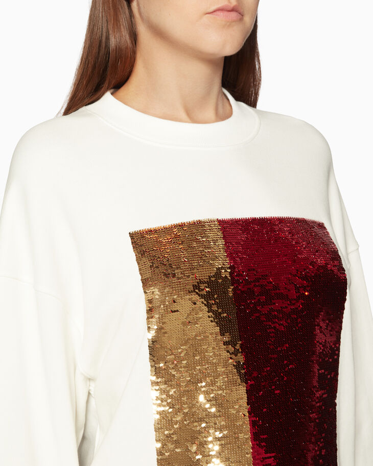 CALVIN KLEIN SLOUCHY SEQUINNED 套頭毛衣