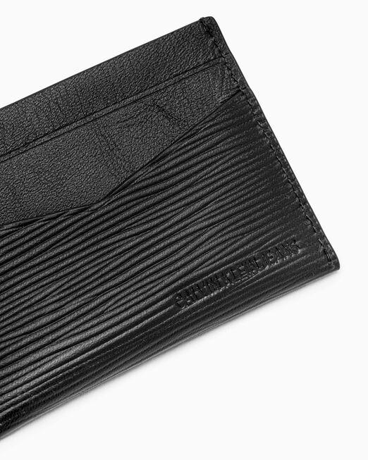 CALVIN KLEIN 남성 텍스쳐드 모노그램 카드 지갑