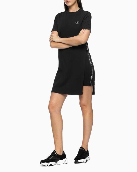 CALVIN KLEIN 여성 레이어드 사이드 슬릿 드레스