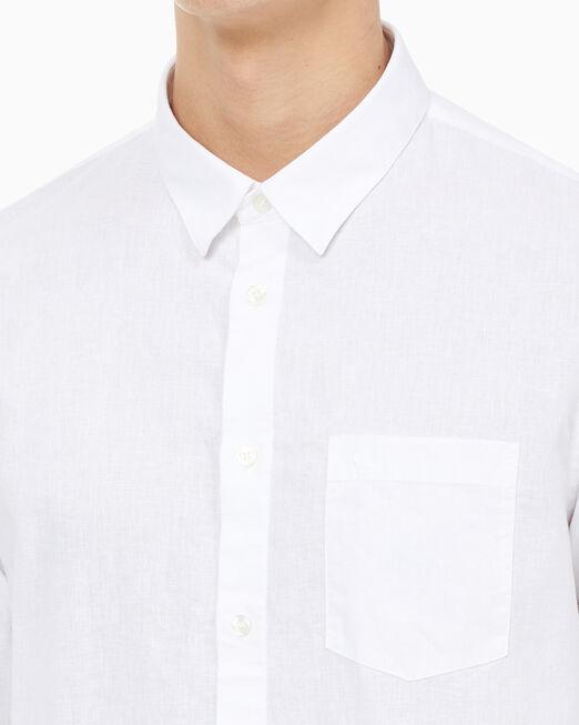 CALVIN KLEIN 남성 슬림핏 솔리드 셔츠