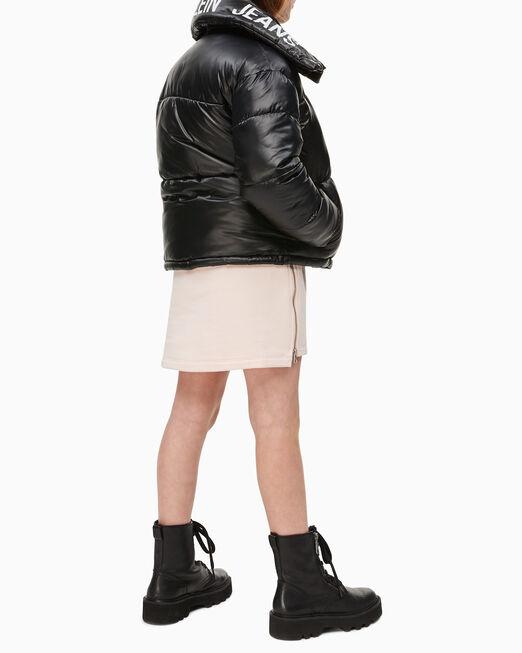 CALVIN KLEIN 여아용 로고 박시 퍼퍼 재킷