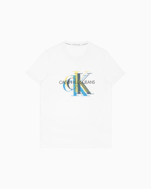 CALVIN KLEIN 남성 슬림핏 모노그램 반팔 티셔츠
