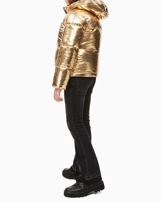 CALVIN KLEIN 여아용 골드 퍼퍼 재킷