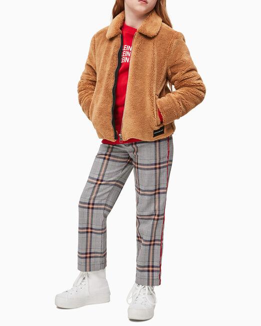 CALVIN KLEIN 여아용 테디 로고 재킷