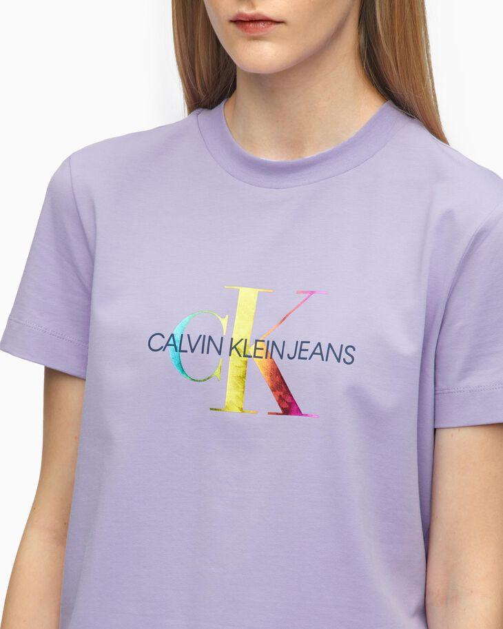 CALVIN KLEIN SPARKLE FOIL 花押字匹馬棉 T 恤
