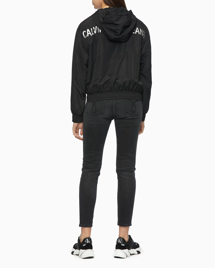 CALVIN KLEIN METALLIC LOGO WINDBREAKER