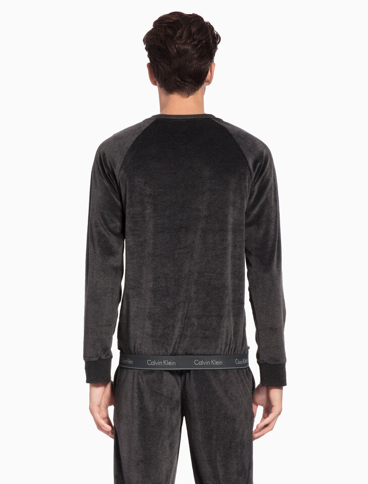 CALVIN KLEIN MODERN COTTON STRETCH LOUNGE SWEATSHIRT
