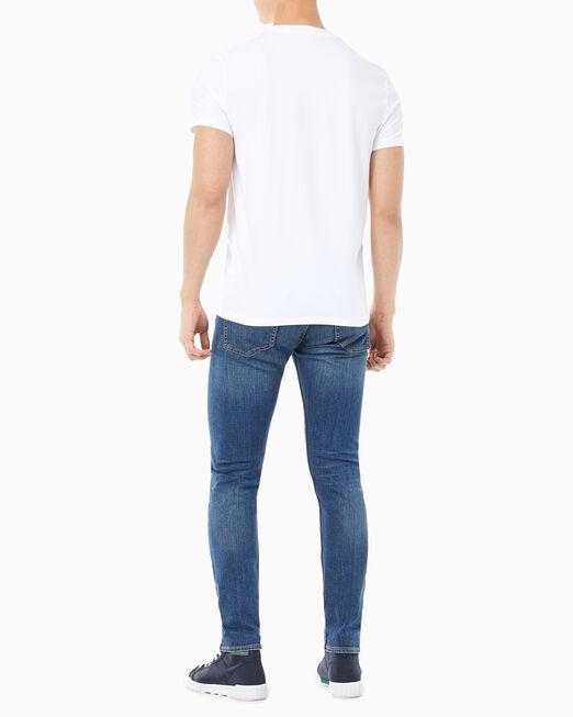 CALVIN KLEIN 남성 인스티튜셔널 버티칼 로고 반팔 티셔츠