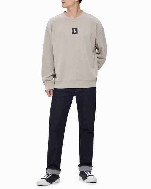 CALVIN KLEIN 남성 CK1 백 그래픽 크루넥 스웨트셔츠
