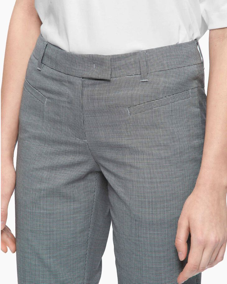 CALVIN KLEIN CHECKED CROPPED SUIT PANTS
