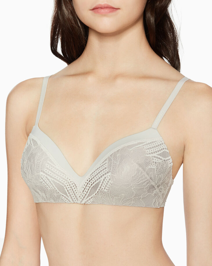 CALVIN KLEIN CK FORM GEO LACE LIGHTLY LINED DEMI BRA
