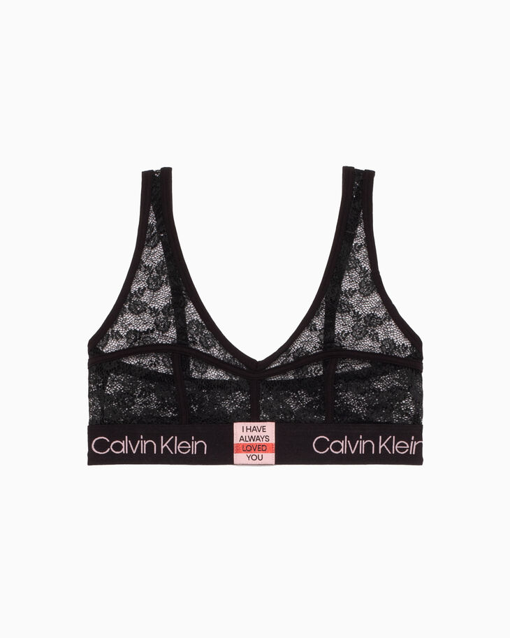 CALVIN KLEIN VALENTINE DAY CAPSULE UNLINED SHEER LACE BRALETTE